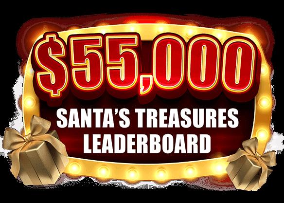 $55,000 Santa's Treasures Leaderboard